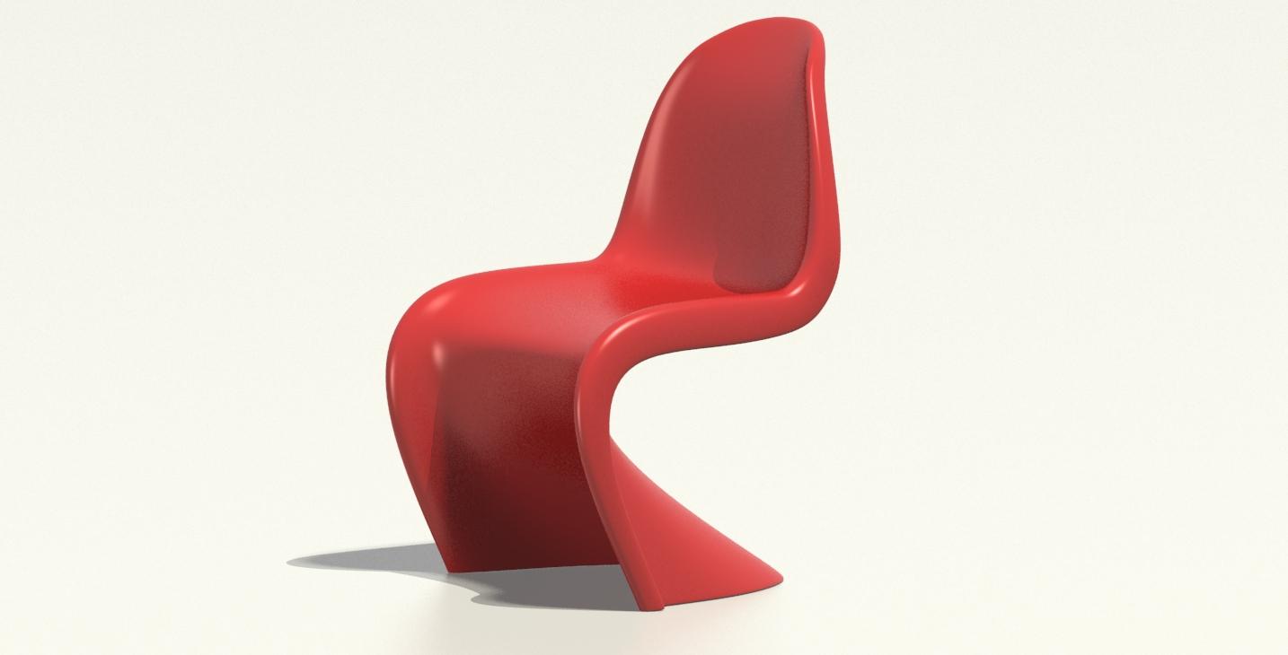 Panton stuhl 3dap 3d atelier pedron for Panton stuhl replik